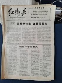青岛文革小报:红卫兵(6份)漫画游街