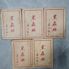 黑森林(第六集一第十集)(五集合售)〈1950年上海新流书店初版发行〉