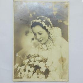 民国照片,美女新娘,