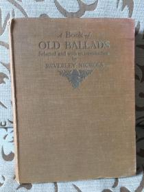 A book of old ballads 《古歌谣集》H.M.Brock精美插画 1934年老版书