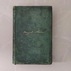 早期善本1882年,美国原版,英文名著《瓦尔登湖》,WALDEN,(内附一张1965年上海外文书店发票!)
