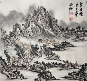 陈忠洲四尺斗方山水作品