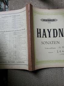 haydn sonaten  海顿奏鸣曲小提琴 厚册