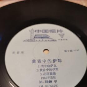 黄昏中的伊梨,黑胶木唱片