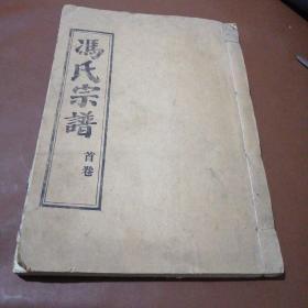 冯氏宗谱:大树堂(首卷)16开线装本