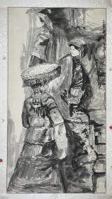 李满园  尺寸  178/95  镜片  1990年出生于山东,2013年毕业于中国美术学院国画系,于同年在山东成功举办个人画展,作品入编《中华名家》作品集。
