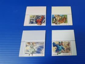 特570 中国古典小说邮票 水浒传一  带角边   原胶全品
