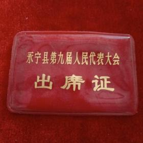 永宁县第九届人民代表大会出席证