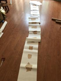 甲骨文文创产品一卷,共26个图案。总长度610厘米。半生熟宣纸艺术微喷复制。300元包邮