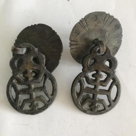 民国时期寿字纹全铜拉手,一只的价格
