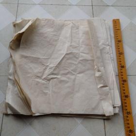 洒银老熟宣纸册页纸21张合售,尺寸约33*32.5,有折痕