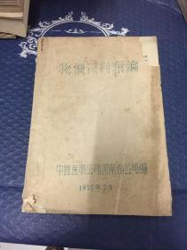 新中国经济类史料【稀缺】1957年中国医药公司河南省公司物价资料汇编【机打油印本】附发送函一份