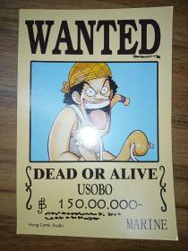 WANTED——DEAD OR ALIVE (USOBO)【英文漫画卡片】