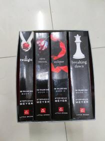 暮光之城 4册全(The Twilight Saga)1-4全套 四本全集  英文原版 全四册 带盒 breaking dawn;new moon;eclipse;twilight(暮色、新月、月食、破晓)