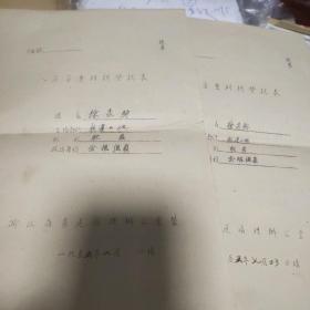 1955年人员审查登记表两份