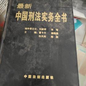 最新中国刑法实务全书