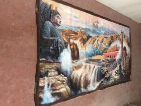 刘宇一手绘(上下五千年)大幅油画3.3米 x1.68米