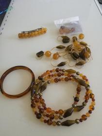 项链-手镯-耳坠--发卡--5件套合售