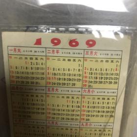 1969年毛主席去安源月历卡 刘春华执笔