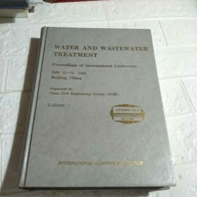 WATER AND WASTEWATER TREATMENT Volume 1(精装 16开 详情看图)