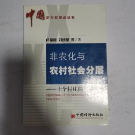 非农化与农村社会分层:十个村庄的实证研究——中国新乡村建设丛书