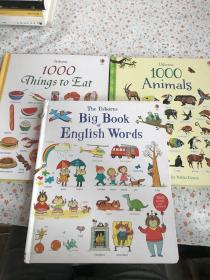 The Usborne Big Book of English Words+ Usborne 1000 Things to Eat+ 1000Animals【3册合售】