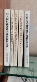 中日共同尼雅遗迹学术调查报告书(1996年  1-3卷   5册全)
