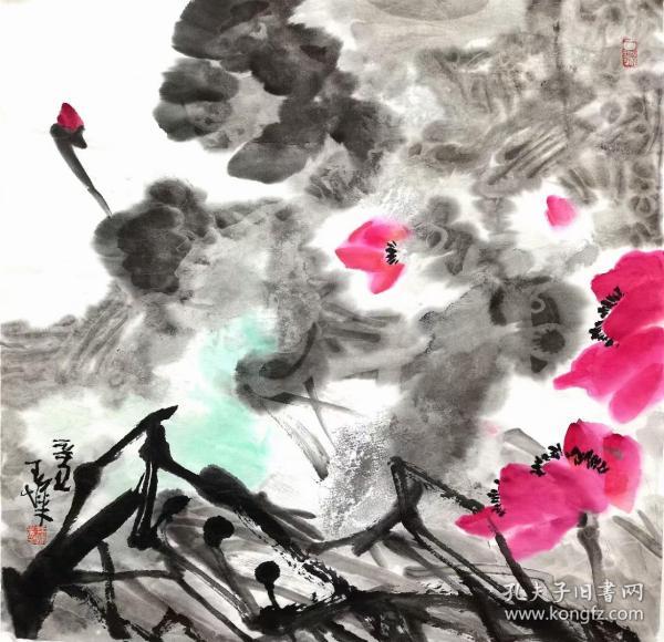 王烨,可合影,四尺斗方,花鸟