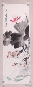 """金默如(1938年-2019年2月7日),出生于北京,爱新觉罗后裔。1956年拜著名花鸟画家王雪涛先生为师,从事写意花鸟画学习研究创作。生前为中国美术家协会会员,国家建设部美协副主席等职。 其""""小写意""""花鸟画内涵蕴藉,情调健康,深具葱茏的诗意,笔墨、色调以及从整体到局部,节奏、旋律无不铿锵而且和谐,览之令人神怡心旷。"""