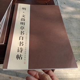 中国历代名家书法卷折,明文征明草书自书诗帖