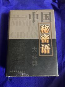 中国秘密语大辞典 精装