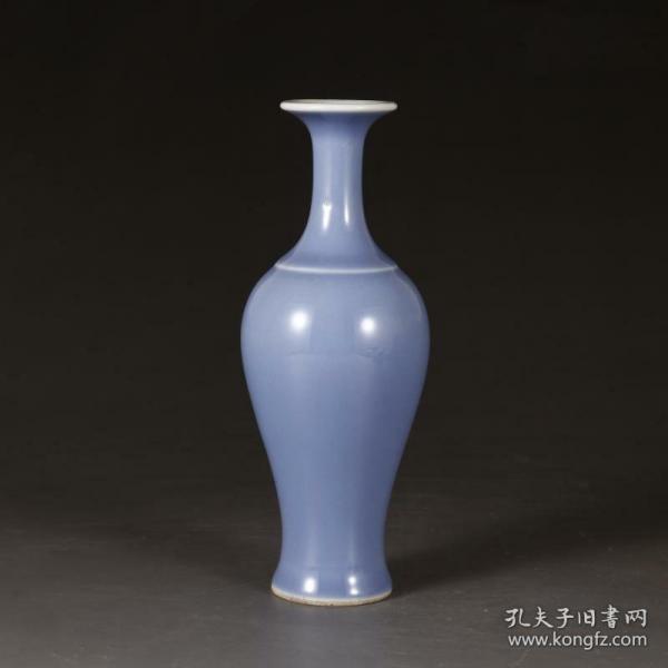 官窑天蓝釉观音瓶鱼尾瓶