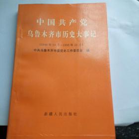 中国共产党乌鲁木齐市历史大事记