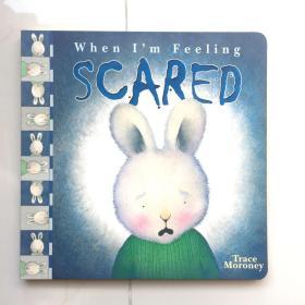 现货 When I'm Feeling Scared 英文原版儿童卡板书  当我感到害怕的时候 儿童认知故事书