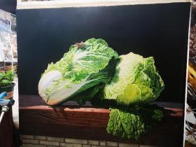 大白菜(油画)1.23乘1米