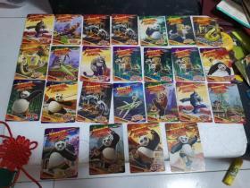 华丰食品卡酥e族:功夫熊猫卡25张、功夫熊猫炫卡三张、功夫熊猫现金五角一张。共计29张合售