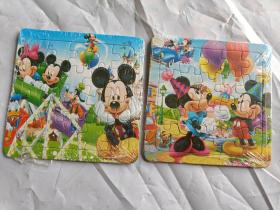 20片迪士尼拼图两张