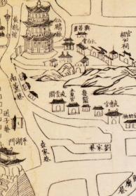古地图1883 湖北省城内外街道总图 光绪9年。武昌府。武汉。纸本大小110.02*156.73厘米。宣纸艺术微喷复制。460元包邮