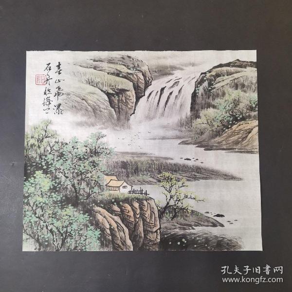 石舟 国画山水  小品  写意国画山水  手绘山水画