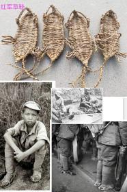 收编草鞋,红色收藏陈设佳品,在哪艰苦的岁月里,为我们的长征战士做出了主要功效,开馆展示,个人收藏佳品,150元一双