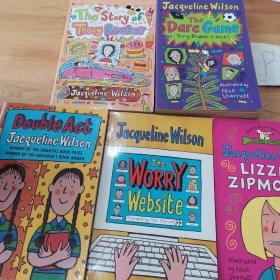 Jacqueline Wilson:The Story of Tracy Beaker/The Dare Game/Double Act等5本合售