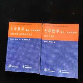 大学数学概念方法与技巧-线性代数与概率统计部分+微积分部分 两本合售