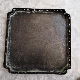 纯铜多边四方形茶盘
