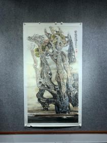 中国胡杨第一人,著名画家杨松涛,六尺巨作