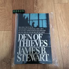 """【英文原版】Den of Thieves 《贼巢》英文原版 美国金融史上最大内幕交易网的猖狂和覆灭;《财富》""""75本商业必读书"""";普利策新闻奖获奖作品 James B. Stewart 著"""