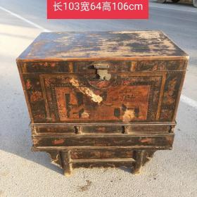 六七十年代,分体式老收纳箱    保存完好