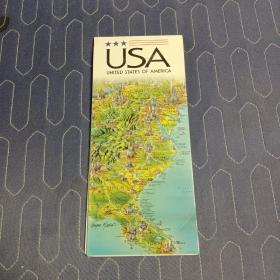 美国原版地图  英文   69x46厘米