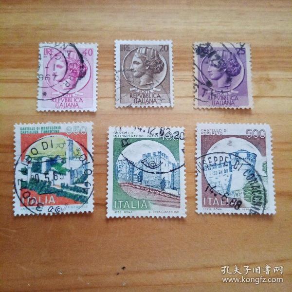外国邮票 波兰信销邮票6枚(乙26-3)