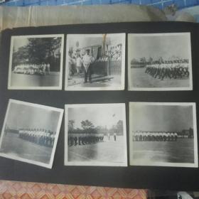 五十年代上海市静安区首届民兵体育运动会老照片六张