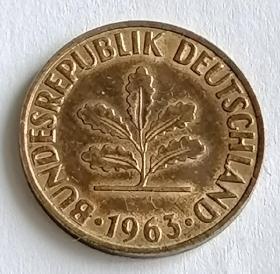 西德2芬尼硬币保真